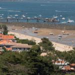 Vue sur la plage du centre depuis le phare du Cap Ferret