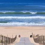Belle vague au niveau de la plage de la Garonne au Cap Ferret