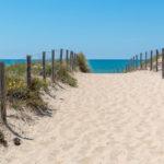 Arrivée sur la plage des dunes au Cap Ferret