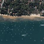 vue aérienne de la plage des américains