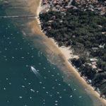 vue aérienne de la plage des américains au cap ferret