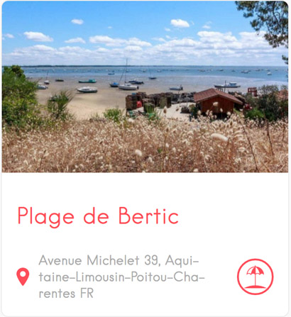 Plage de Bertic à Claouey au Cap Ferret