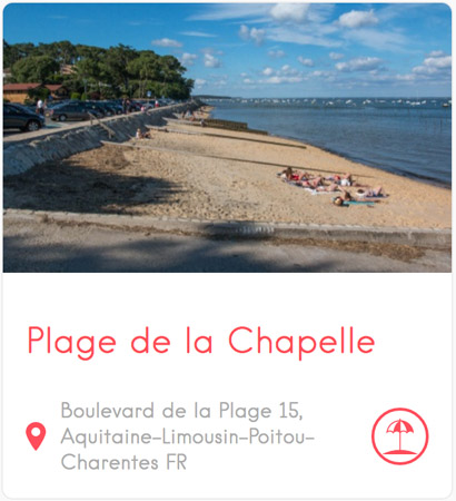 Plage de la Chapelle à l'Herbe au Cap Ferret