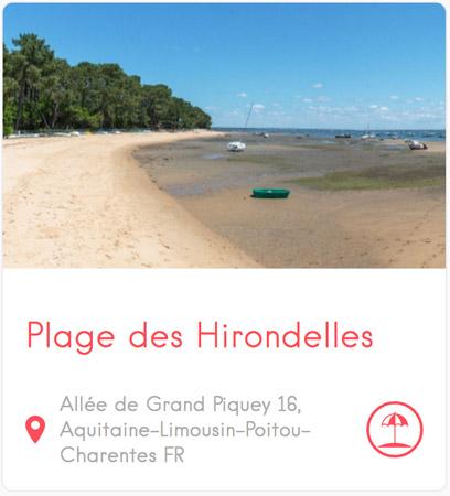 Plage des Hirondelles à Grand Piquey au Cap Ferret