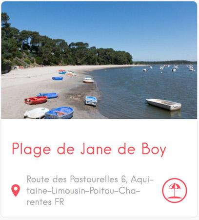 Plage de Jane de Boy à Claouey au Cap Ferret