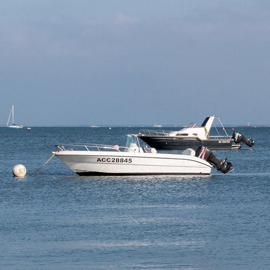 Balade en bateau à moteur au Cap Ferret