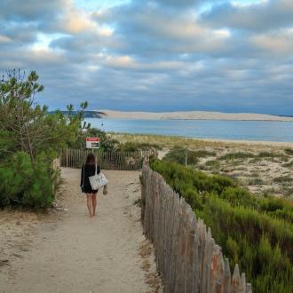 Chemin de la plage de la Pointe du Cap Ferret