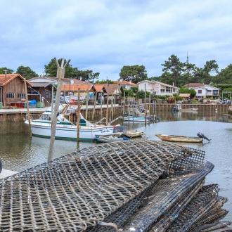 Port ostr�icole de Piraillan au Cap Ferret