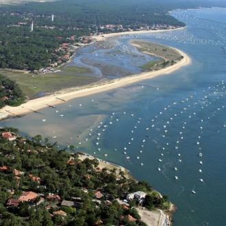 Quartier des 44 hectares et conche du Mimbeau au Cap Ferret