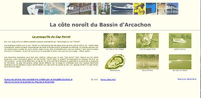 Site de Patrick Labouyrie sur le Cap Ferret