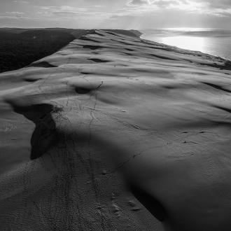Photo aérienne de la Dune du Pilat par Benoit Rual photographe professionnel du Bassin d'Arcachon