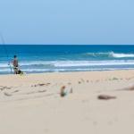 Surfcasting et pêche sur la plage de la torchere