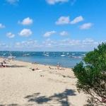 touristes sur la plage des américains au cap ferret