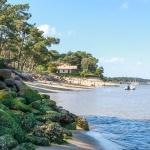 la plage des américains vue depuis la jetée bélisaire au cap ferret