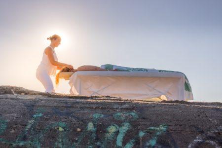 Massage face à l'océan au Cap Ferret