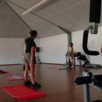 Salle de fitness du camping