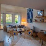 Salon cosy de l'appartement à louer au Cap Ferret