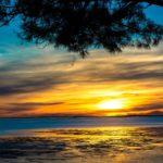 Balade en bateau au coucher de soleil depuis le Cap Ferret
