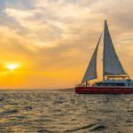 Balade en catamaran sur le bassin d'Arcachon au coucher du soleil