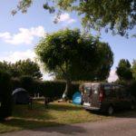 Emplacement pour tente au camping la Prairie du Cap Ferret