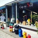 Vitrine de la boutique Cap au Sud située au Cap Ferret