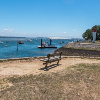 Vue sur le Bassin d'Arcachon depuis le village de La Vigne au Cap Ferret
