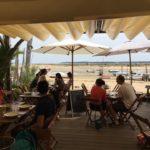 Chai Bertrand : dégustation d'huitres au Cap Ferret
