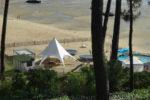 Le Club Baloo sur la plage de Bertic à Claouey, Lège-Cap Ferret