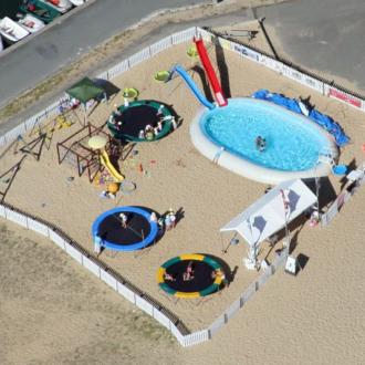 Club de plage pour enfants à la plage de la Vigne au Cap Ferret