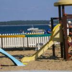 Tobogan pour enfants au Club de plage de La Vigne