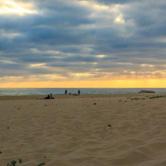 Coucher de soleil sur la plage de la Pointe du Cap Ferret