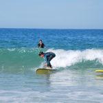 Cours de surf pour enfants avec l'école de surf l'Andade au Cap Ferret