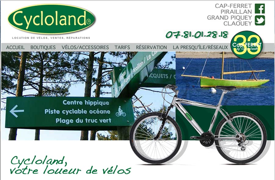Cycloland location de vélo à Grand Piquey