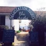 Chai Anselme : cabane de dégustation d'huitres au Cap Ferret dans le village du Canon