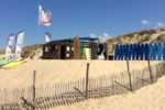 Cabane de l'école de surf du Grand Crohot au Cap Ferret