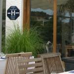 Terrasse de l'hotel le Pavillon Bleu