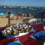 Plateau d'huitres et fruits de mer au Chai Nous à Grand Piquey, Cap Ferret