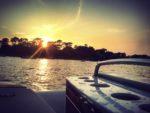 Coucher de soleil au Cap Ferret depuis le bateau