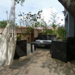 Terrasse de la Maison d'Elise, villa et chambre d'hôtes aux Jacquets Cap Ferret