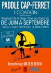 Affiche de la location de SUP Paddle Cap Ferret