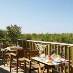 Balcon terrasse à l'Hôtel des Dunes au Cap Ferret