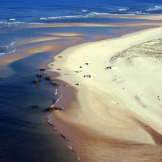 Vue aérienne de la pointe du Cap Ferret