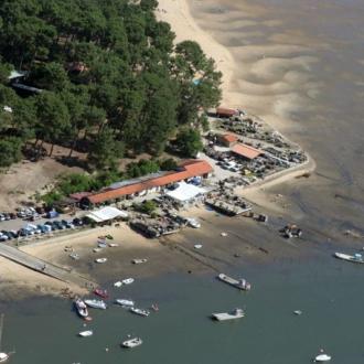 Quartier ostréicole du village de Claouey au Cap Ferret