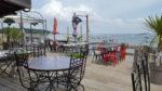 Terrasse de la cabane de dégustation Techoueyres sur la presqu'ile du Cap Ferret
