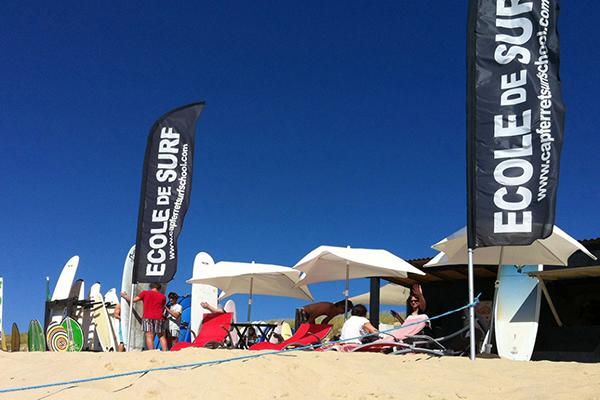 Cap Ferret Surf School école de surf plage du Truc Vert