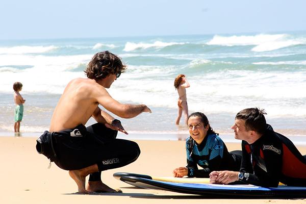 ESCF école de surf plage de la Garonne au Cap Ferret