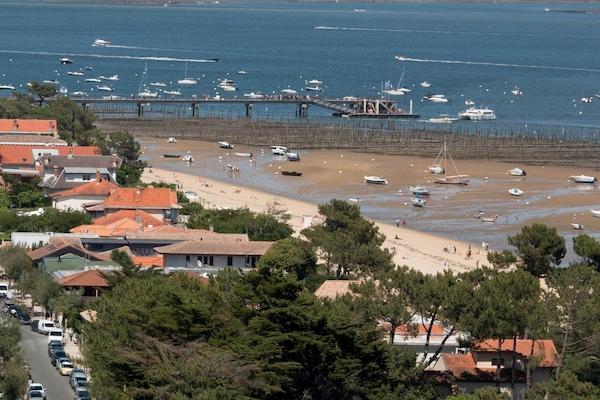 Plage du Centre au Cap Ferret vue depuis le phare