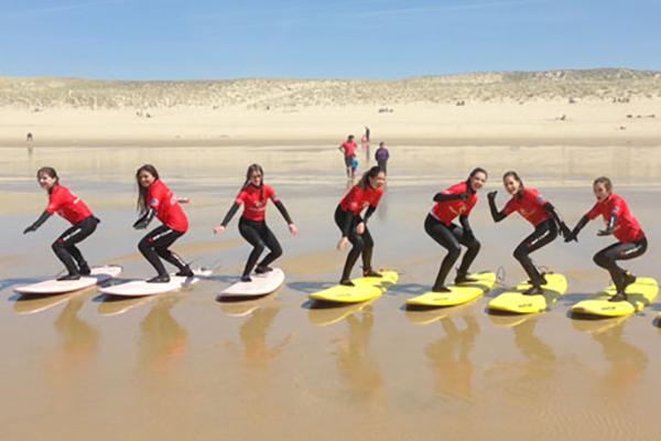 Surf Club de la Presqu'ile école de surf plae du Grand Crohot au Cap Ferret