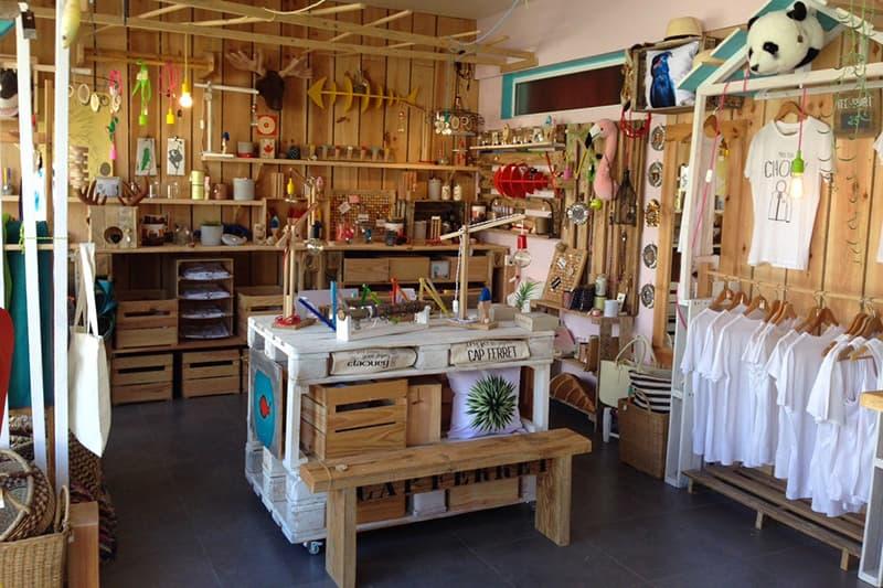 Magasin de souvenirs et décoration au Cap Ferret